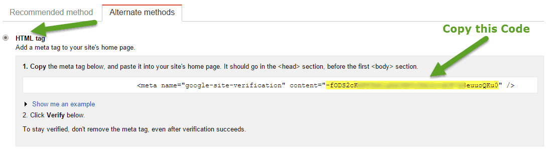 How To Add Google Verification Code In Html Google Site