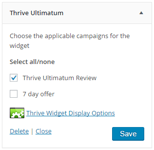 Adding Ultimatum Campaign in SideBar