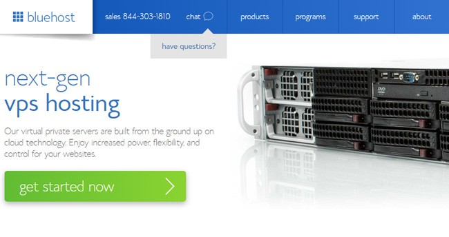 BlueHost VPS-Hosting