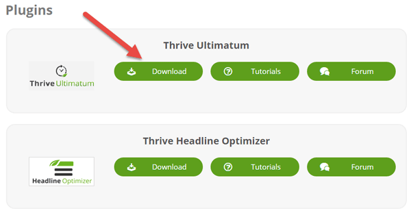 Thrive Themes Dashboard