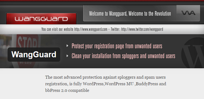 WangGuard Anti Spam Plugin for WordPress