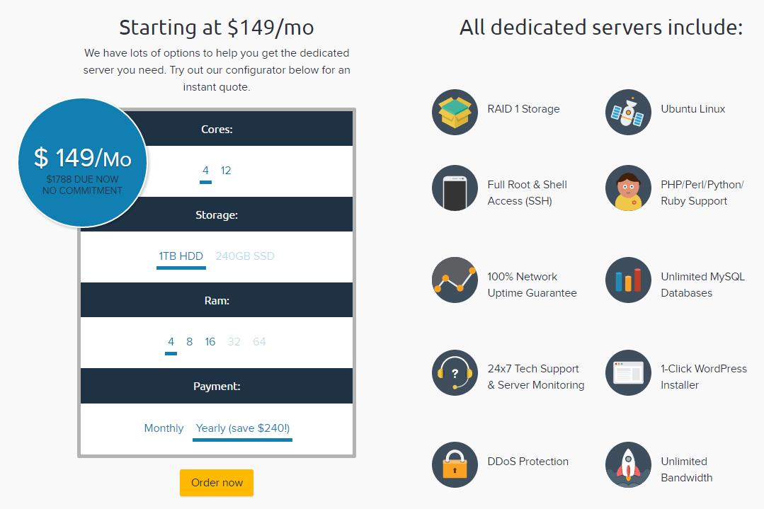 Dedicated Server Plans