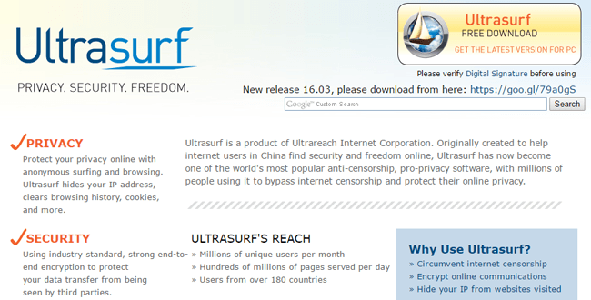 UltraSurf Free VPN