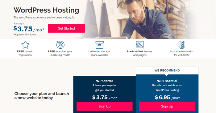 wordpress hosting ipage 2019 review