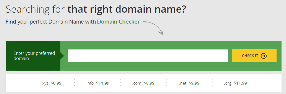 Hostinger Domain Name Registration