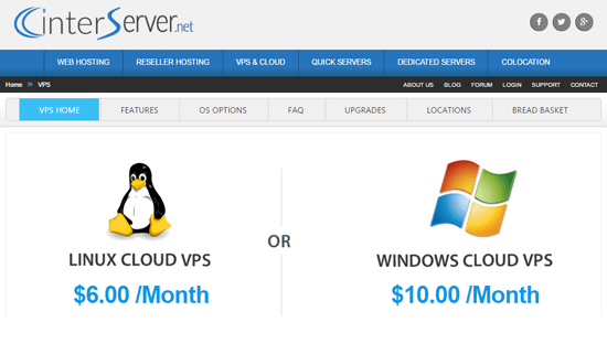 InterServer affordable Cloud VPS