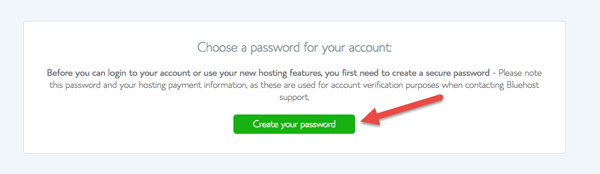Create Your Account Password