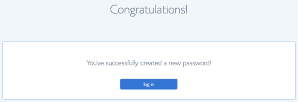 Password created