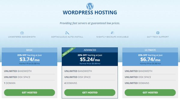 wordpress hosting hostwinds plan