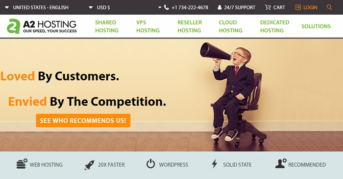 A2Hosting fast ssd hosting