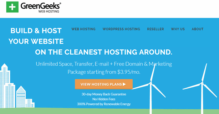greengeeks cheap cPanel hosting provider