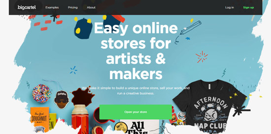 BigCartel alternative to squarespace